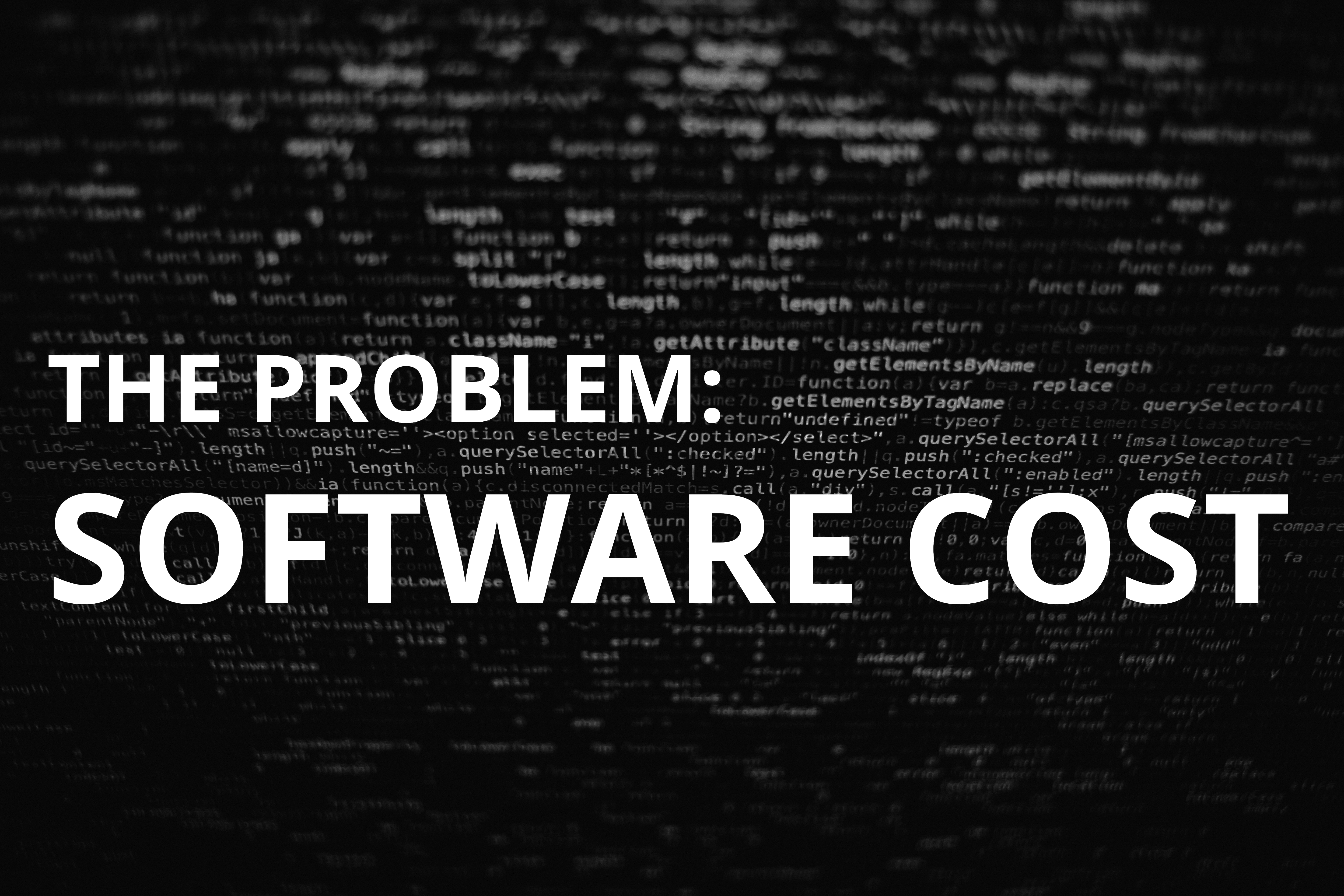 The Problem: Software Cost